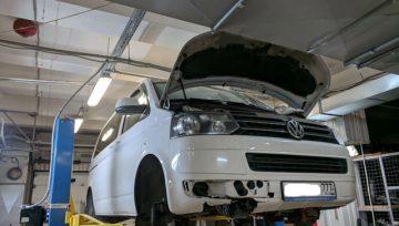 Volkswagen Multivan T5 2.0 TDi 2011 DQ500 - грохот маховика